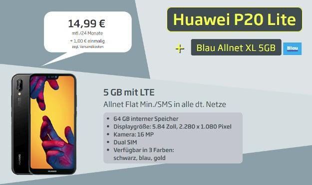 Huawei p20 lite + Blau Allnet XL