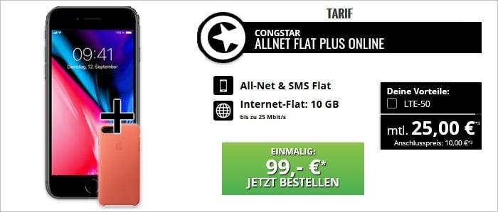 iPhone 8 Plus mit congstar Allnet Flat Plus bei Talkthisay