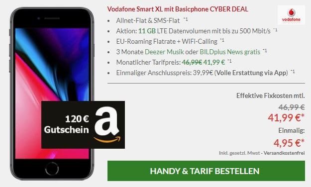 iphone 8 + amazon gutschein + smart xl