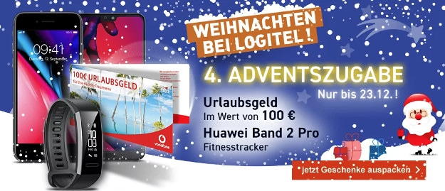 iphone 8 + huawei band 2 pro + vodafone smart l plus