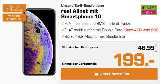 iPhone Xs + mobilcom-debitel Telekom real Allnet
