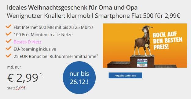 klarmobil smartphone flat telekom