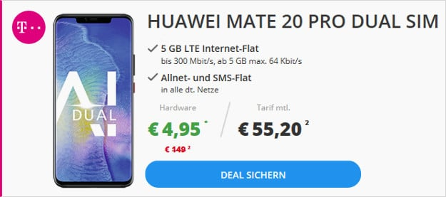 mate 20 pro + telekom magenta mobil m