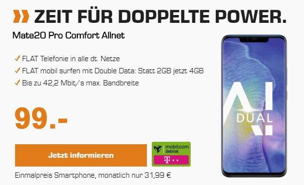 Huawei Mate 20 Pro + mobilcom-debitel Telekom Comfort Allnet