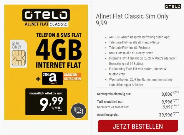 Otelo Sim Karte Aktivieren.Otelo Allnet Flat Classic Für Effektiv 8 95 Im Monat Handyhase De