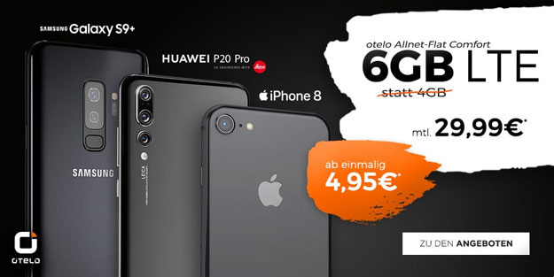 Huawei P20 Pro + otelo Allnet-Flat Comfort LTE