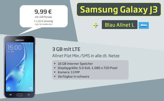 Samsung Galaxy J3 (2017) + Blau Allnet L