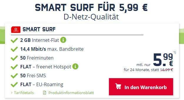 Vodafone Smart Surf (mobilcom-debitel) bei mobilcom-debitel