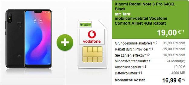 Xiaomi Redmi Note 6 Pro + Vodafone Comfort Allnet (md)