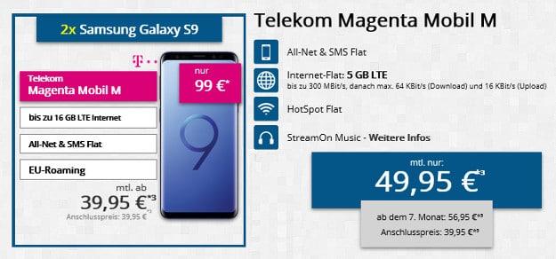 Galaxy S9 / S9 Plus + Telekom Magenta Mobil M / M Young
