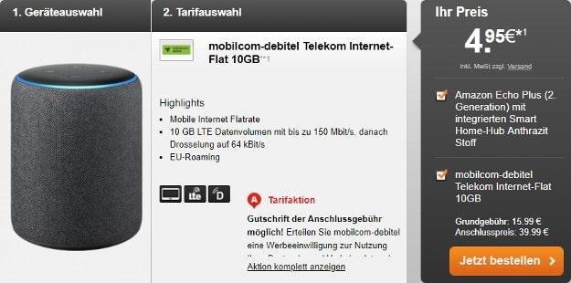 10 gb lte + amazon echo plus