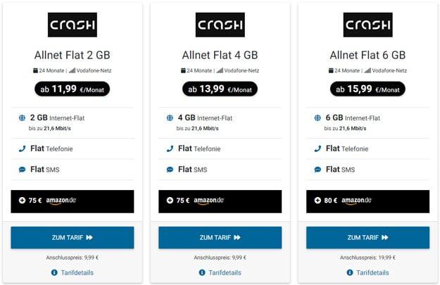 Crash Allnet Flat Tarife bei Tariffuxx