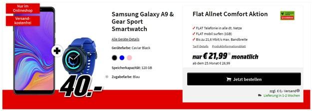 Galaxy A9 (2018) + Vodafone Flat Allnet Comfort (md)