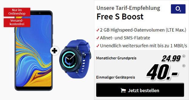 galaxy a9 mit gear sport + o2 free s boost