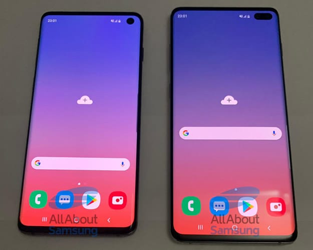Samsung Galaxy S10 und Samsung Galaxy S10 Plus