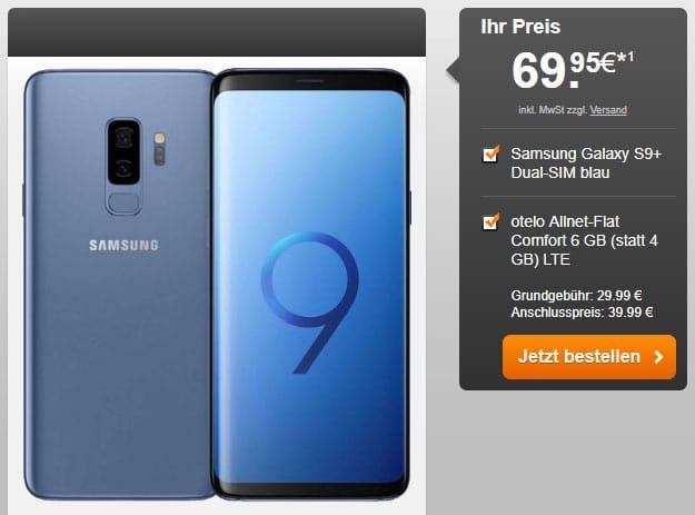 Samsung Galaxy S9 Plus + otelo Allnet-Flat Comfort LTE 50 bei HandyFlash