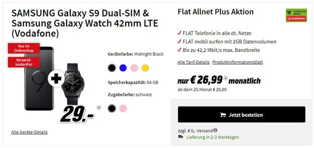 Galaxy S9 / S9 Plus + Vodafone Flat Allnet Comfort (md)