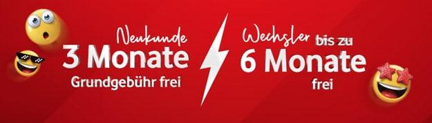 Handyflash Aktion mit Vodafone GigaKombi: Vorteil für Festnetz-Kunden mit DSL- oder Kabel-Internet-Vertrag - bis zu 6 Frei-Monate für Wechsler!