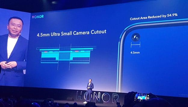 Honor View 20 - Frontkamera mit nur 4,5 Millimeter Durchmesser im Display