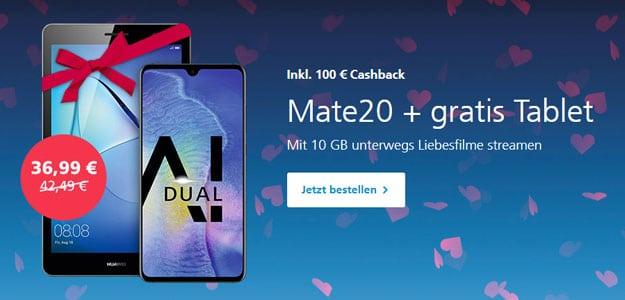 Huawei Mate 20 + Huawei MediaPad T5 10 LTE + o2 Free M bei o2 Online