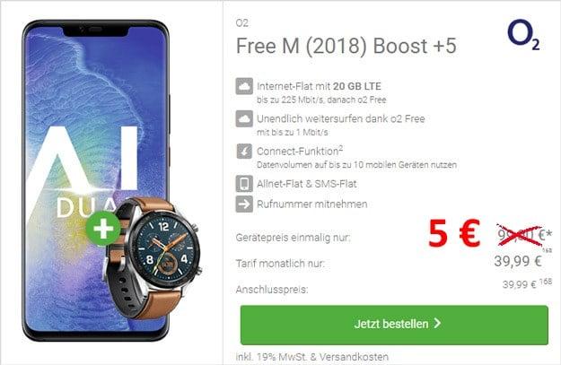 Huawei Mate 20 Pro + Huawei Watch GT + o2 Free M Boost bei DeinHandy