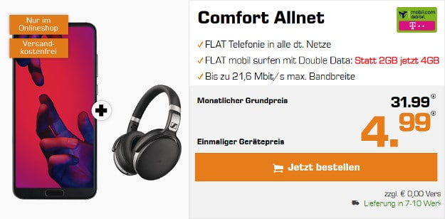 Huawei P20 Pro + md Comfort Allnet (Telekom-Netz)