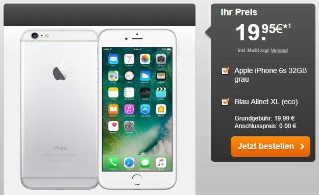 iPhone 6s 32GB + Blau Allnet XL bei Handyflash