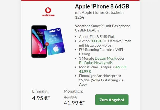 iphone 8 + itunes + smart xl