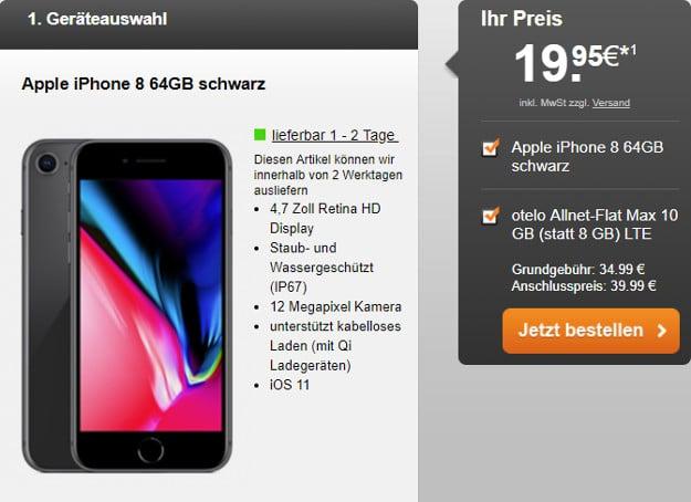 iphone 8 + otelo allnet-flat max lte