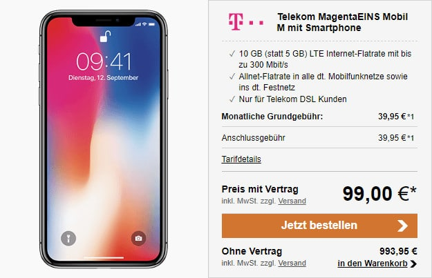 iphone x mobil m magentaeins telekom