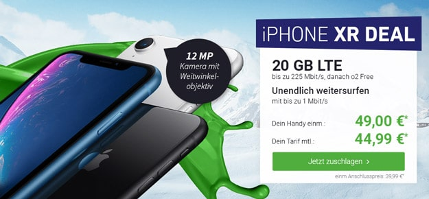 iPhone Xr + o2 Free M Boost bei DeinHandy