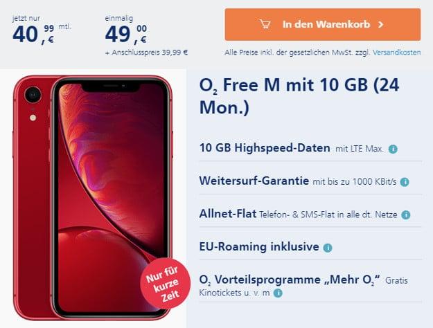 iPhone Xr + o2 Free M bei o2