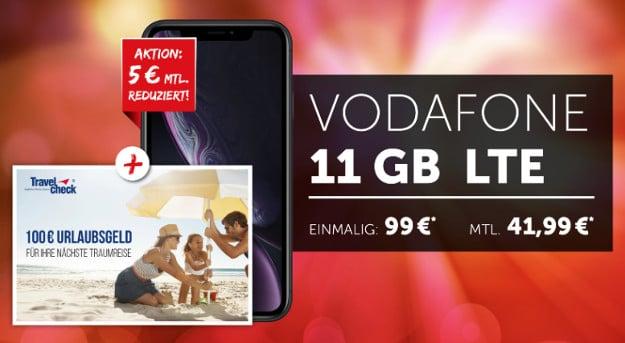 iphone xr + vodafone smart xl + travelcheck