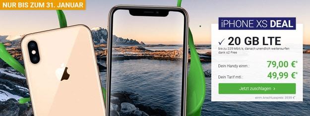 Apple iPhone Xs mit o2 Free M Boost