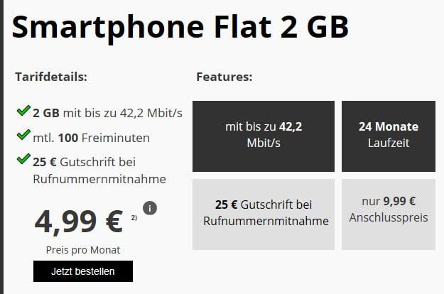 klarmobil smartphone flat vf