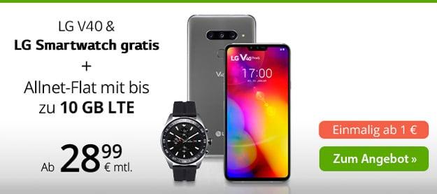 LG V40 ThinQ + winSIM LTE All Tarife bei winSIM