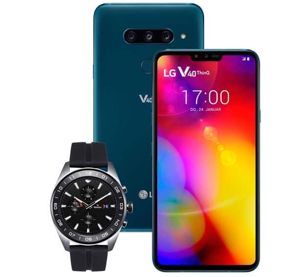 LG V40 ThinQ kaufen, LG Watch W7 im Wert von 449 € gratis dazu bekommen