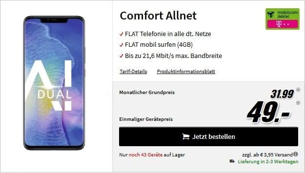 mate 20 pro comfort allnet telekom