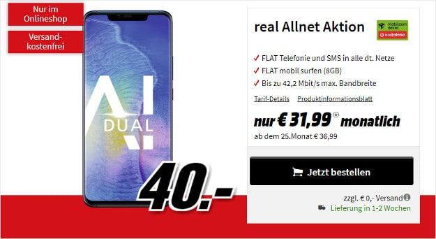 huawei mate 20 pro + vodafone real allnet (mobilcom-debitel)