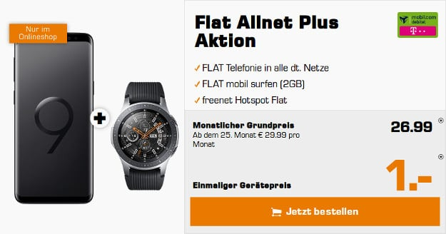 galaxy s9 galaxy watch md flat allnet plus