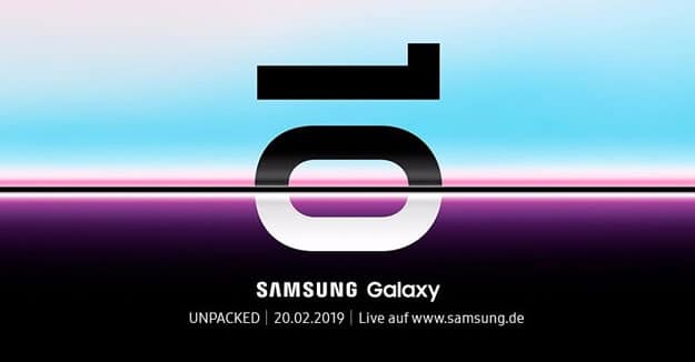 Samsung Galaxy S10 Unpacked Event, Termin, Vorstellung