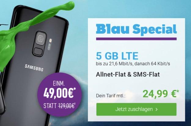 Samsung Galaxy S9 + Blau Allnet XL