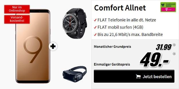 samsung galaxy s9 plus + gear s3 + gear vr + comfort allnet md telekom