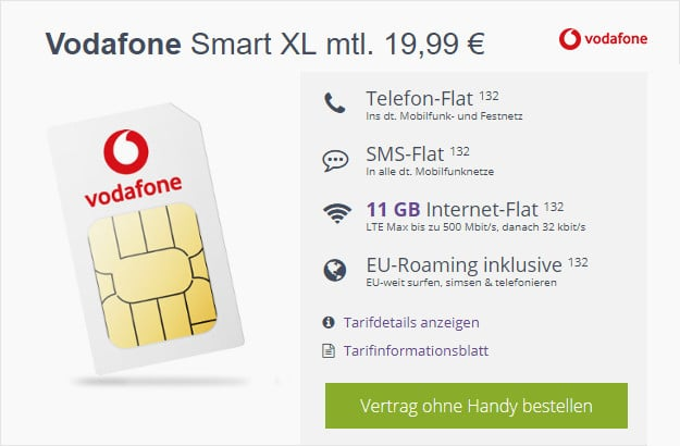 vodafone smart xl sim only