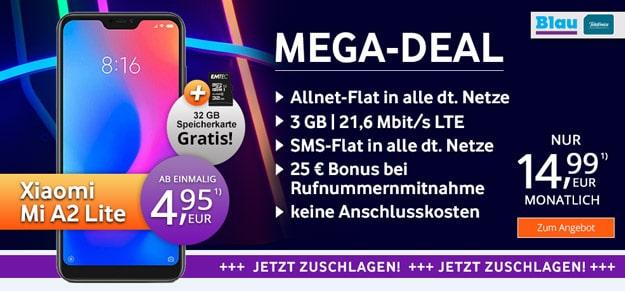 Xiaomi Mi A2 Lite + Blau Allnet L
