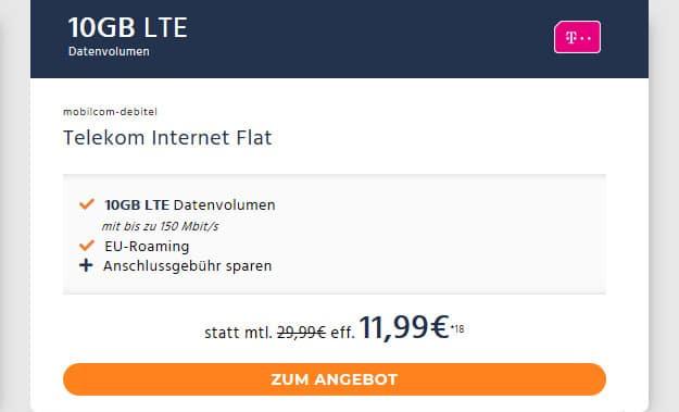 10 gb lte telekom netz