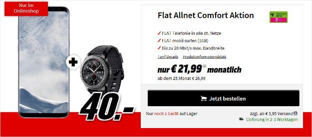 8 plus + gear s3 + flat allnet comfort telekom md