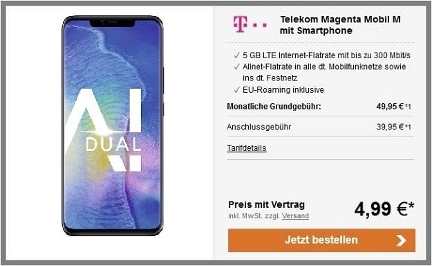 Huawei Mate 20 Pro Telekom Magenta Mobil M