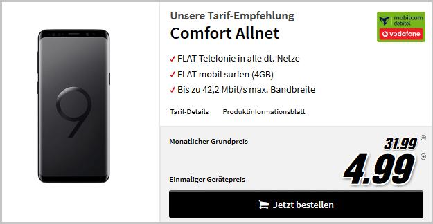 Samsung Galaxy S9 + Vodafone Comfort Allnet (md)