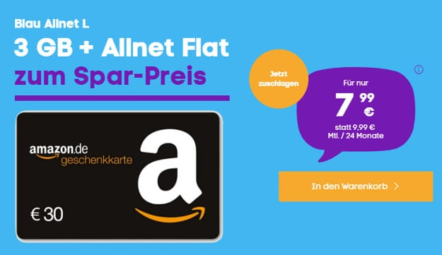 blau allnet l mit amazon